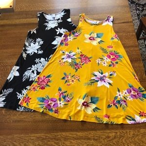Two Petite Swing Summer Dresses